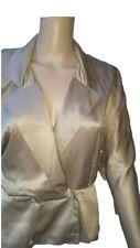 Santagostino Couture beige 100%silk  dolman sleeved chemise/jacket-IT42,US8,UK10