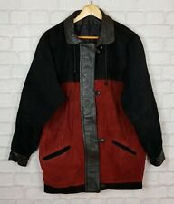 VINTAGE RETRO LEATHER SUEDE URBAN TRIBAL NAVAJO OVERSIZED FESTIVAL JACKET COAT
