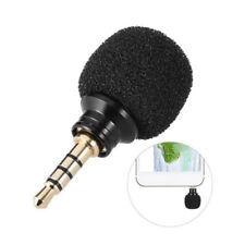 3.5mm Mini Nero Microfono stereo per Smartphone Cellulare Registrazione