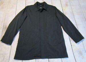 TUMI T-Tech Mens Soft Shell Lined Full Zip & Snap Closure Black Jacket Coat XL