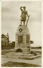 REAL PHOTOGRAPHIC POSTCARD OF DORNOCH WAR MEMORIAL, SUTHERLAND, SCOTLAND