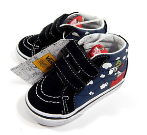Vans x Peanuts SK8-Mid Reissue V Flying Ace Toddler Shoes Blue Size 4.5 NIB