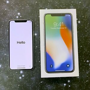 Apple iPhone X 256GB Silver (Sprint) A1865 (CDMA + GSM)