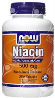 Sustained Slow Release Niacin, 500mg x250tabs;- CHOLESTEROL