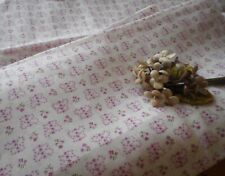 Best Antique Small Scale Butterfly Floral Lavender Dimity Cotton Fabric ~ dolls