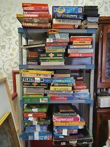 Job Lot Of Vintage Board Games including moviemaker