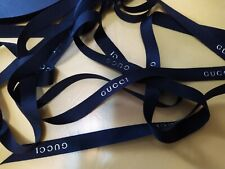 New Classic Black grosgrain with Silver letter  rom Gucci 1.4(W) X 2 METRE