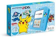 NEW Nintendo 2DS Pokemon Sun Moon Pikachu LIMITED Light Blue  not 3DS JAPAN