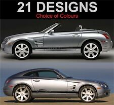 CHRYSLER CROSSFIRE Strisce Laterali Decalcomanie Adesivi Grafica TRD 2 OFF