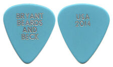Jeff Beck Guitar Pick : Bryant Beards and Beck - Usa 2014 Tour Zz Top blue