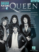 Queen for Drum Play-Along Vol 29 Sheet Music Rock Song Book Online Audio Pack