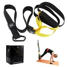 Pro Yoga Fitness Resistance Bands Hanging Belt Suspension Pull Rope TRX Workout