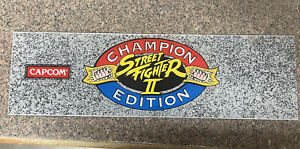 Street Fighter II - Champion Edition Video Arcade Game Marquee, Capcom