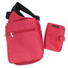 Travelon Red Handbag Crossbody Travel Purse Anti-theft Shoulder Bag Small Wallet