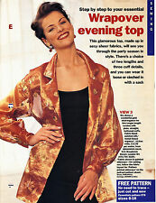 Wrap Over Loose EVENING JACKET TOP E76 Essentials Sewing Pattern 8 10 12 14 16