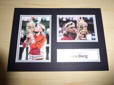 Bjorn Borg original signed mounted photograph with COA Tennis Sweden Wimbledon