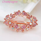 Fashion Women Crystal Rhinestone Butterfly Barrette Hair Clip Clamp Hairpin