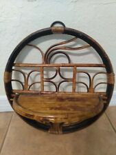 Vintage Bamboo And Rattan Shelf. Free Shipping