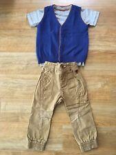 A continuación los muchachos Outfit Pantalones, Top Y Camiseta sin mangas 2-3 años de edad