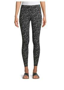 No Boundaries Juniors Ankle Legging Size XXL(19) Black / White Polka Dots