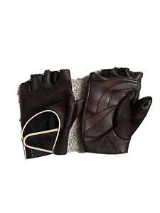 Rapha Fingerless Gloves Women's S - Black Leather