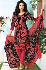 Elegant Crepe Printed Unstitched Dress Material Suit D.No SV1102