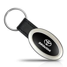 Toyota Sequoia Oval Style Metal Key Chain Key Fob