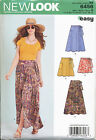 NEW LOOK SEWING PATTERN 6456 MISSES SZ 6-18 EASY WRAP SKIRTS, FOUR LENGTHS, MAXI