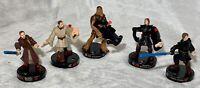 Lot 5 Star Wars Attacktix Battle Figures 2005 Hasbro Vader Obi Anakin Chewbacca