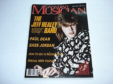JEFF HEALEY BAND Canadian Musician magazine June 1989 SASS JORDAN