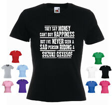 'Suzuki GSX650F' -They say Money can't buy happiness...' Ladies Funny T-shirt
