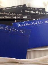 1971-1978 Proof Sets Original Packaging -7 Sets
