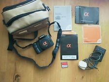 Sony Alpha 100 automatic SLR digital camera - body plus charger / battery etc