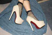38 Decollete donna sexy plateau high heels pumps nude patent tacco alto vernice