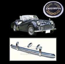 Triumph TR3A Brand New Stainless Steel Bumpers