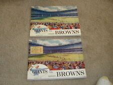 (2) 1958 New York Giants vs Browns Programs with Dec 21st Ticket Stub Playoff