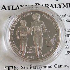 USA 1995 P Atlanta PARAOLIMPICI ARGENTO PROOF DOLLAR-COA