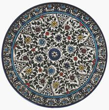 "Flowers Plate. Armenian Ceramic (II)   Israel, Diameter: 8.66"""