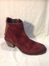 Cara London Maroon Ankle Suede Boots Size 37