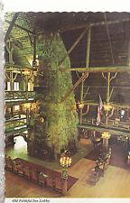 Old Faithful Inn Lobby  Yellowstone National Park  Wyoming Chrome Postcard 267b
