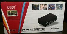 4 Port Video Audio Splitter FJ-104AV VCD/DVD To TV 1024X768@85Hz NEW BOX BT50
