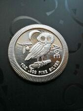 2 Dollar , Eule von Athen , 1 Oz. Silbermünze Niue - 2020 , 999/1000