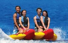 Towable Inner Tube Towing Water Sports Inflatable Tow Behind Boating 1-4 Riders