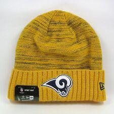 8d1a0a57d89 New Era Men s NFL LA Rams Team Colors Century Gold Winter Knit Beanie Hat