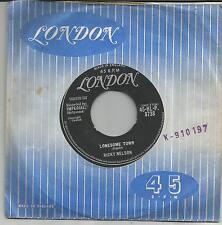 RICKY NELSON Lonesome town UK SINGLE LONDON 1958