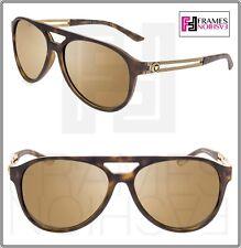 VERSACE 4312 Vintage Vanitas VE4312 Havana Gold Mirrored Aviator Sunglasses