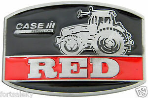 Case IH Agriculture Black Enamel Belt Buckle Farming Construction Gold Rush