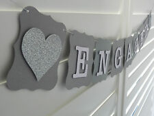 ENGAGED Banner Bunting Garland - Wedding Engagement Bridal Shower decoration