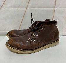 Red Wing Heritage Chukka  3141 Brown Briar Oil Slick Leather Boots Mens 10 D US