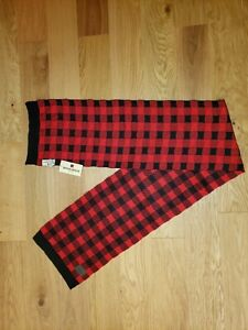 NWT WOOLRICH BUFFALO PLAID ALL OVER PRINT WOOL BLEND SCARF RED/BLACK